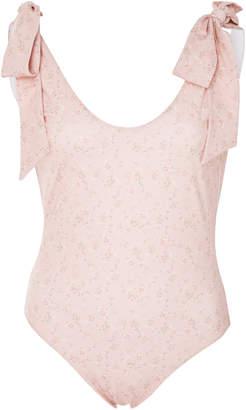 LoveShackFancy Posy Floral-Print Swimsuit