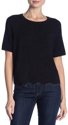 1 STATE 1.State Short Sleeve Scallop Edge Sweater