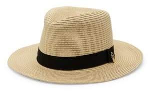 Melissa Odabash Raffia Fedora Hat