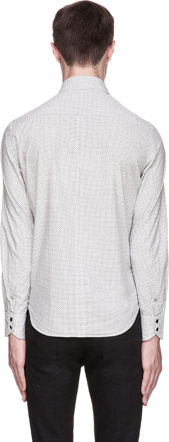 Rag and Bone Rag & Bone Grey Patterned Yokohoma Shirt
