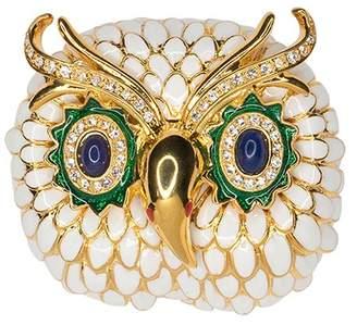 Kenneth Jay Lane White Owl Brooch