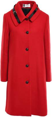 Lanvin Patent Leather-trimmed Wool-blend Tweed Coat