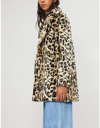 Frame Cheetah-print faux-fur coat