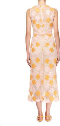 Simone Rocha Floral-Sequined Midi Dress