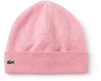 Lacoste Boys' Cotton And Cashmere Jersey Beanie And Gloves