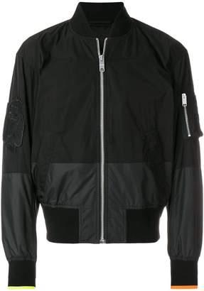 Versus panelled bomber jacket