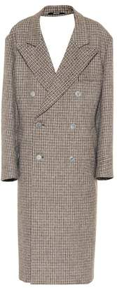 Maison Margiela Checked wool coat