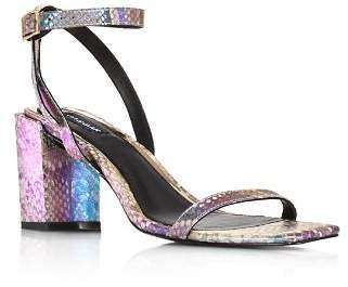 Jaggar Women's Essential Snake-Print Block Heel Sandals