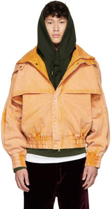 Feng Chen Wang Orange Oversized Hooded Jacket