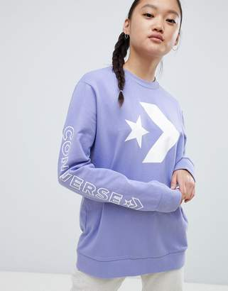 Converse Sweatshirt In Purple
