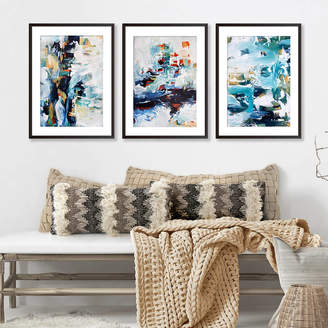 Abstract House Framed Art Print Set Of Three Poster Prints