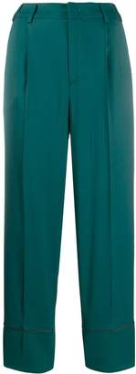 Pt01 Daisy contrast piped trousers