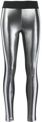 NO KA 'OI No Ka' Oi side stripe metallic leggings