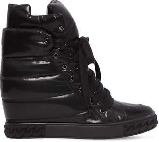 Casadei 80mm Quilted Nylon Wedged Sneakers