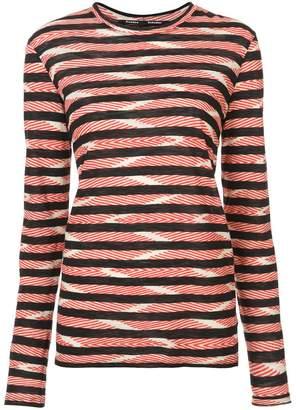 Proenza Schouler Chevron Stripe Long Sleeve T-Shirt