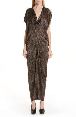 Zero Maria Cornejo Miu Hair Print Stretch Silk Dress