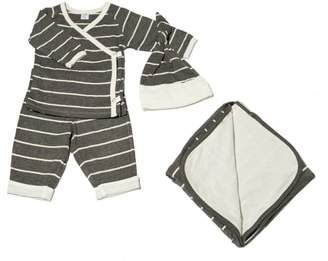 Baby Grey T-Shirt, Pants, Hat & Blanket Set