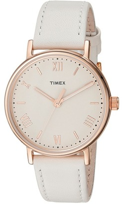 Timex - Southview 37 Leather Strap Watches $65 thestylecure.com