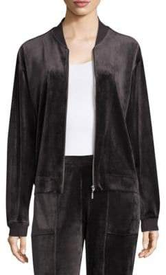 Natori Zip Bar Velour Jacket