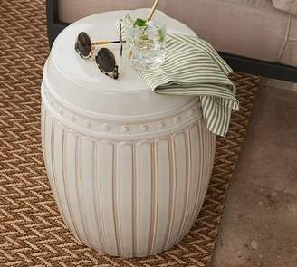 Pottery Barn Reeded Ceramic Accent Table