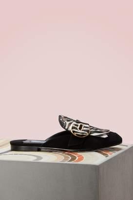 Prada Zebra Slippers