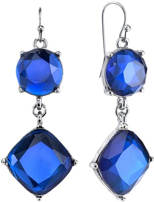 1928 Faceted Stone Drop Earrings