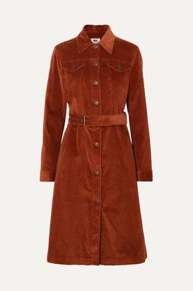 MM6 MAISON MARGIELA Cotton-blend Corduroy Trench Coat - Brown
