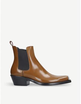 Calvin Klein Collection Western Chris Abrasivato leather Chelsea boot