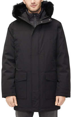 UGG Men's Butte Fur-Trim Hooded Parka Coat