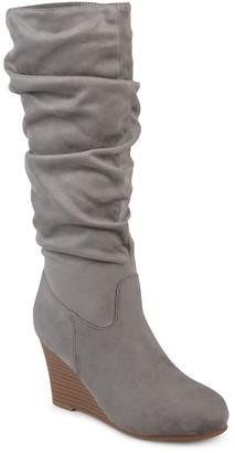 Journee Collection Haze Women's Wedge Slouch Knee High Boots