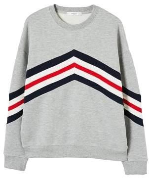 MANGO Mixed cotton sweatshirt