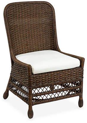 One Kings Lane Catalina Wicker Side Chair - Dark Walnut
