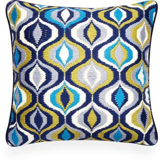 Jonathan Adler Turquoise Bargello Waves Throw Pillow