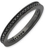 Stackable Black Diamond Band
