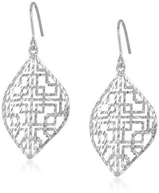 Marquis Sterling Diamond-Cut Drop Earrings