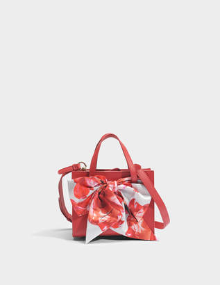 Salvatore Ferragamo Foulard Tote Bag in Red Dolce T Leather