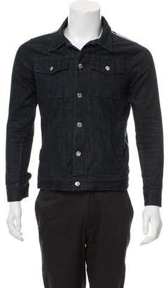 Givenchy Camouflage-Paneled Denim Jacket