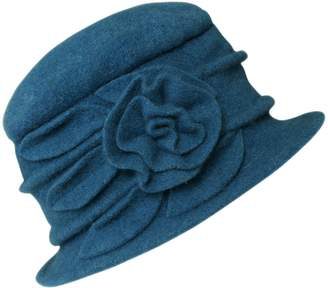 Cloche Urban CoCo Women's Floral Trimmed Wool Blend Winter Hat