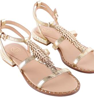 Ash Pixel Metallic Leather Sandals