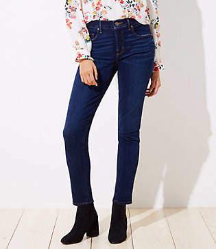 LOFT Tall Curvy Soft Skinny Jeans in Luxe Dark Wash