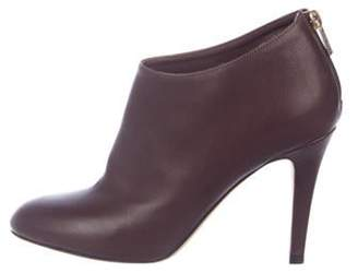 Jimmy Choo Leather Round-Toe Booties brown Leather Round-Toe Booties
