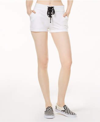 57c41bb7b5d6 ... Material Girl Active Juniors  Cotton Terry Lace-Up Shorts