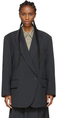 Low Classic Navy Loose Fit Blazer