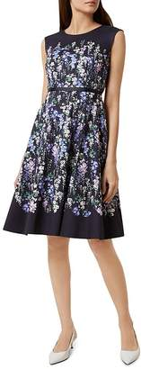 Hobbs London Aubrie Floral Print Fit-and-Flare Dress