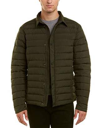 Scotch & Soda Men's Lightweight Quilted Shirt Jacket with Real Down