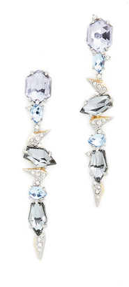 Alexis Bittar Crystal Encrusted Mosaic Lace Dangling Earrings $275 thestylecure.com