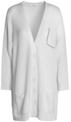 Brunello Cucinelli Crystal-Trimmed Ribbed-Knit Cardigan