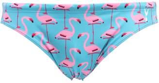 Flamingo Print Lycra Swim Briefs