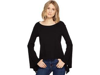 Blank NYC Belle Sleeve Shirt in Shadow Women's Clothing