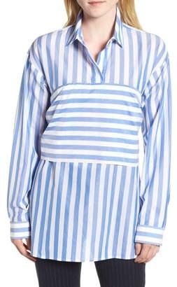Lewit Tie Back Stripe Shirt